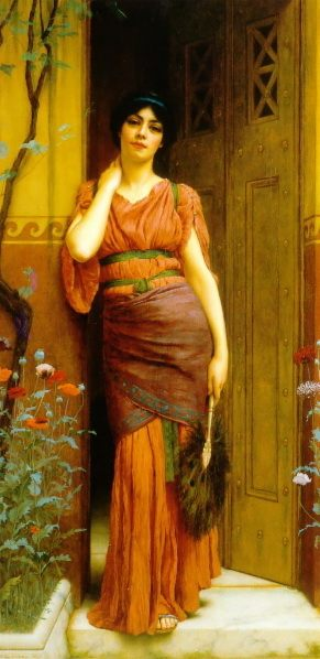 At the Garden Door :: John William Godward - Antique world scenes фото