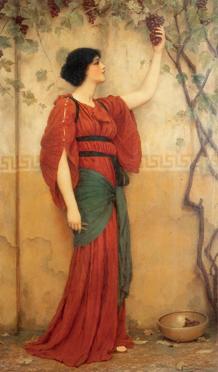 Autumn :: John William Godward - Antique world scenes фото
