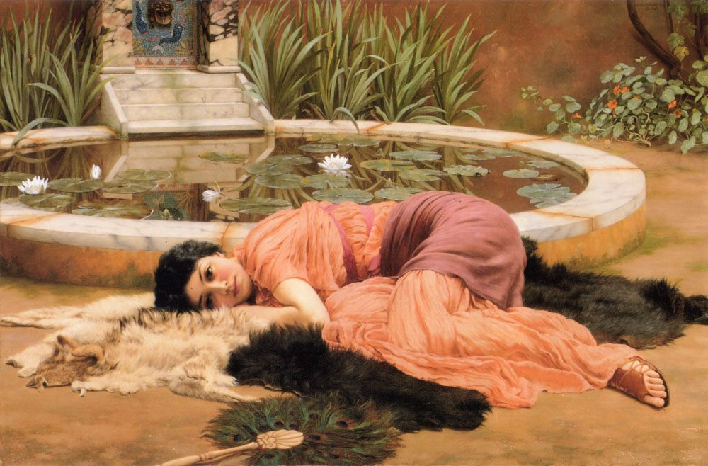 Sweet Nothings :: John William Godward - Antique world scenes фото