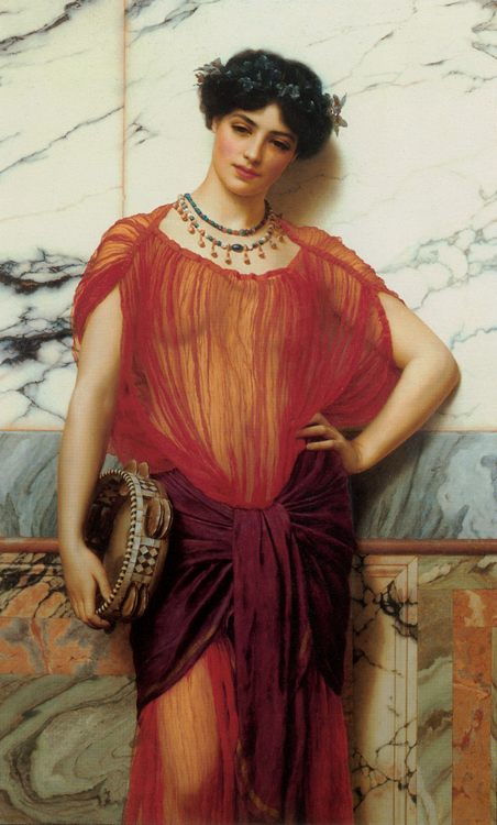 Drusilla :: John William Godward - Antique world scenes фото