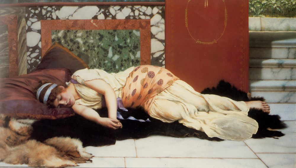 Endymion :: John William Godward - Antique world scenes фото