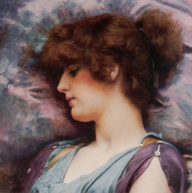 Far Away Thoughts :: John William Godward - Antique beauties in art and painting фото