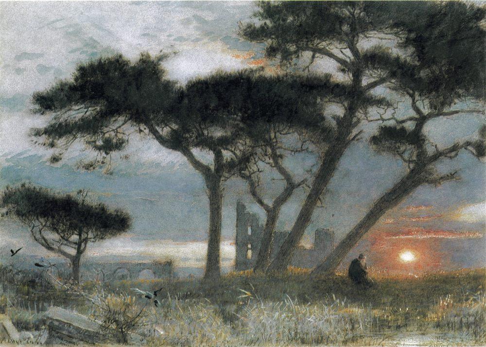 A Days End :: Albert Goodwin - Sunset and sunrise, sundown ôîòî
