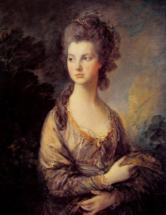 Madam Grem :: Thomas Gainsborough - 4 women's portraits 18th century hall фото