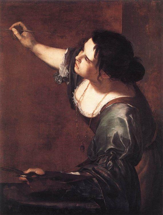 Self-Portrait as the Allegory of Painting :: Artemisia Gentileschi - 3 women portraits 17th century hall ôîòî