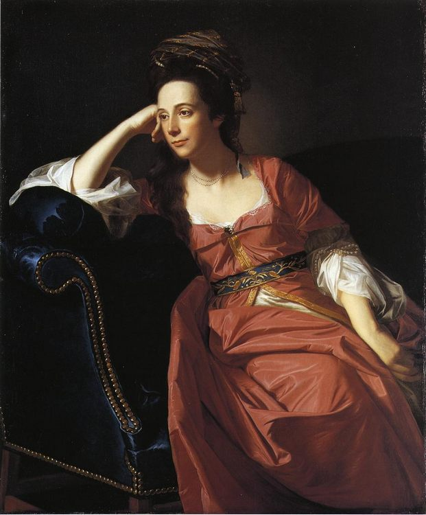 Mrs. Thomas Gage (Margaret Kemble) :: John Singleton Copley - 4 women's portraits 18th century hall фото
