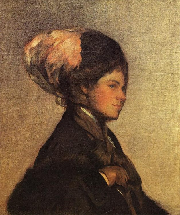 The Pink Feather :: Joseph Rodefer de Camp - 7 female portraits ( the end of 19 centuries ) in art and painting фото