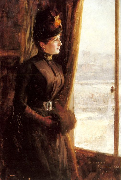 A Portrait of Madame Vallery-Radot :: Albert Edelfelt - 7 female portraits ( the end of 19 centuries ) in art and painting фото