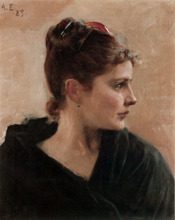 Portrait of a Young Lady :: Albert Edelfelt - 7 female portraits ( the end of 19 centuries ) in art and painting фото