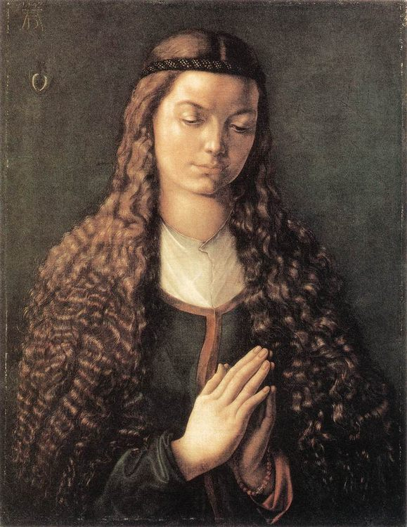 Portrait of a Young Furleger with Loose Hair :: Albrecht Durer  - 1 women portraits 15th century hall фото