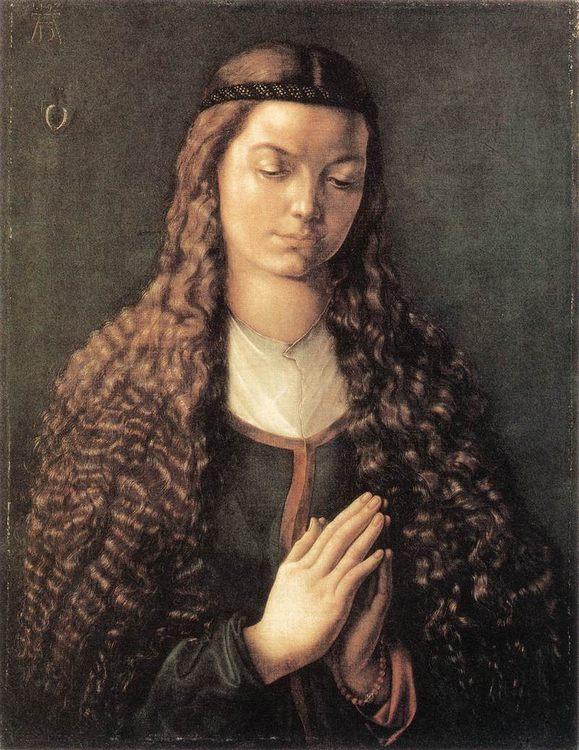 Portrait of a Young Furleger with Loose Hair :: Albrecht Durer  - 1 women portraits 15th century hall ôîòî