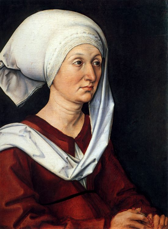 Portrait of Barbara Durer :: Albrecht Durer - 1 women portraits 15th century hall ôîòî