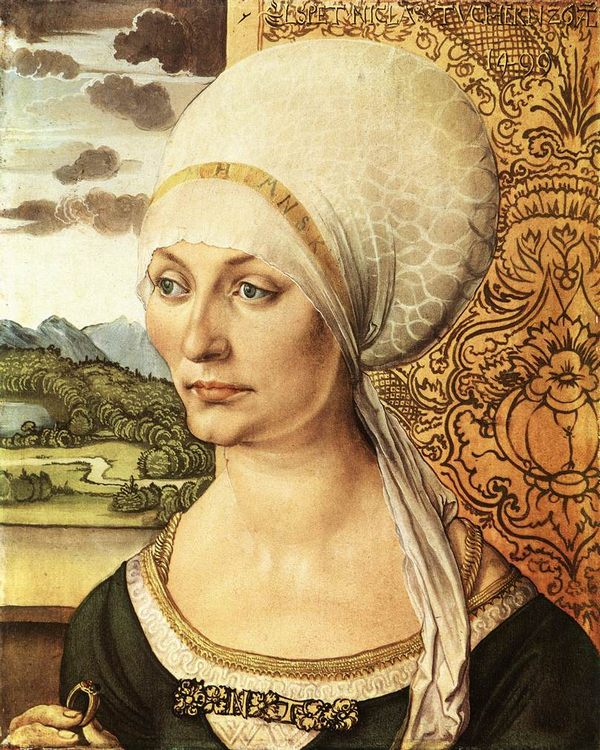 Portrait of Elsbeth Tucher :: Albrecht Durer - 1 women portraits 15th century hall фото
