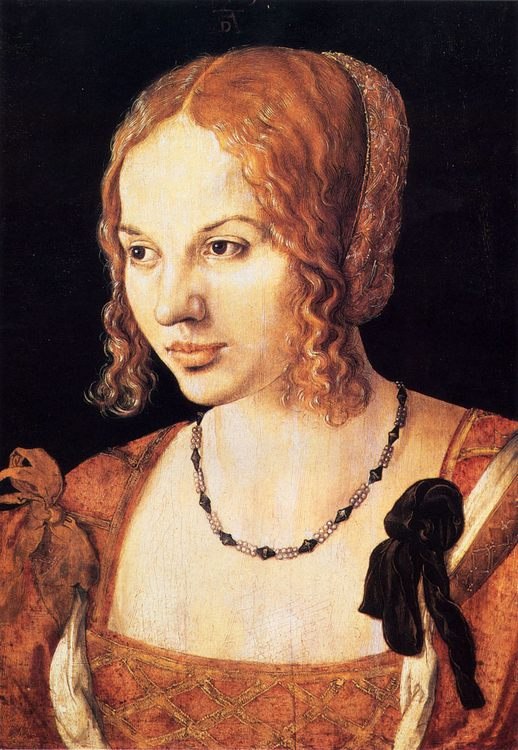 The Venetian girl :: Albrecht Durer  - 1 women portraits 15th century hall фото