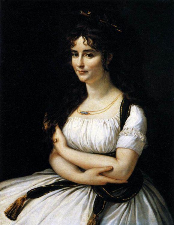 Madame Pasteur :: Antoine-Jean Gros - 4 women's portraits 18th century hall фото