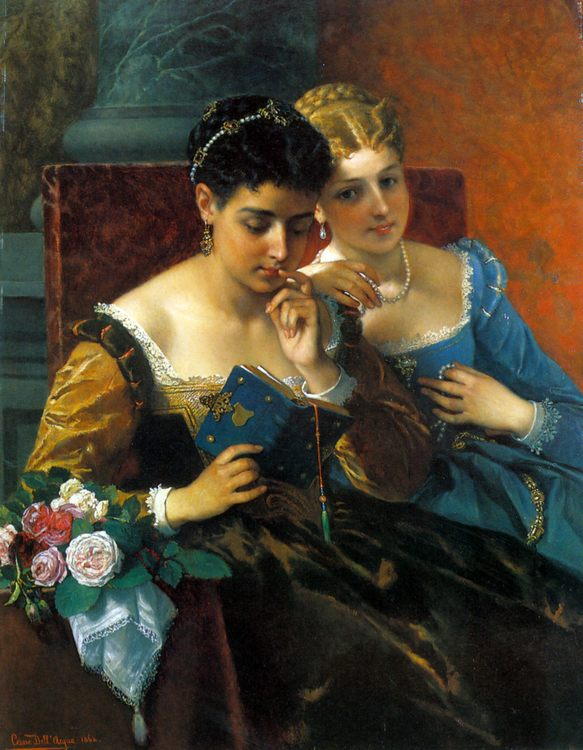 A Shared Moment :: Cesare dell Acqua - 6 woman's portraits hall ( The middle of 19 centuries ) in art and painting ôîòî