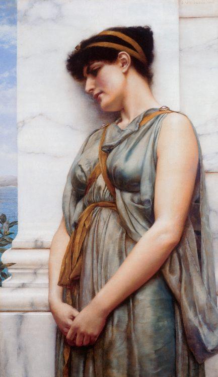 Grecian Reverie :: John William Godward  - Antique world scenes фото