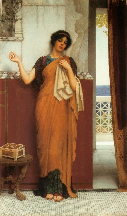 Idle Thoughts :: John William Godward - Antique world scenes фото