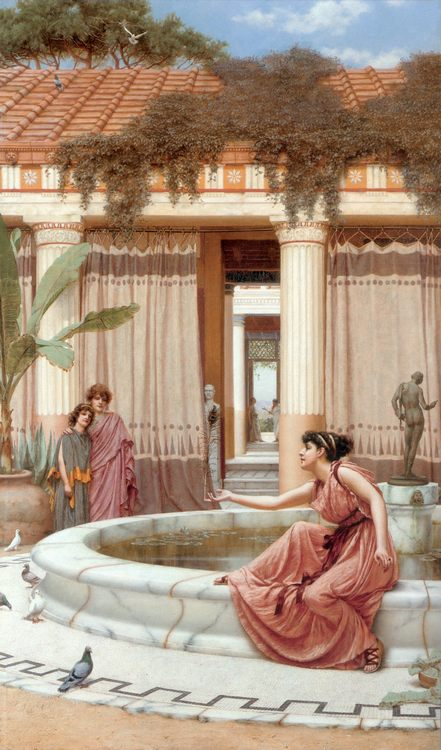 Innocent Amusements :: John William Godward - Antique world scenes ôîòî
