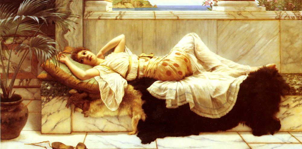 Lying :: John William Godward - Antique world scenes ôîòî