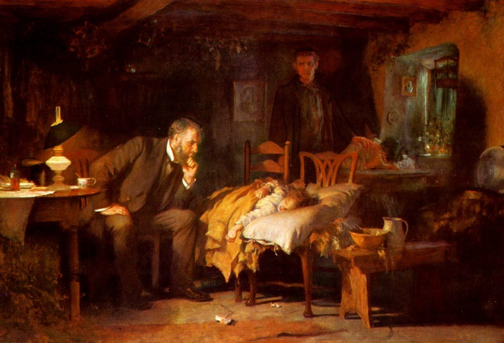 The Doctor :: Luke Fildes - Interiors in art and painting ôîòî