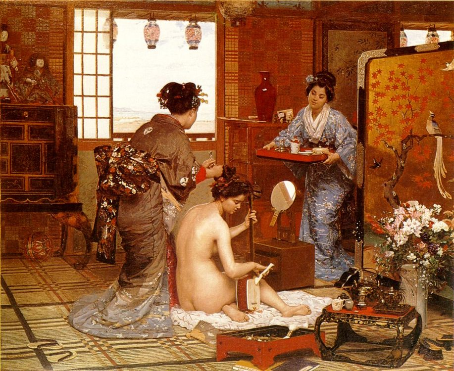 The Japanese Toilette :: Marie-Franзois-Firmin Girard - Interiors in art and painting фото