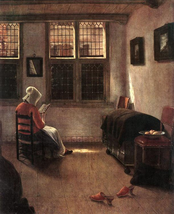 Reading Woman :: Pieter Janssens Elinga - Interiors in art and painting фото