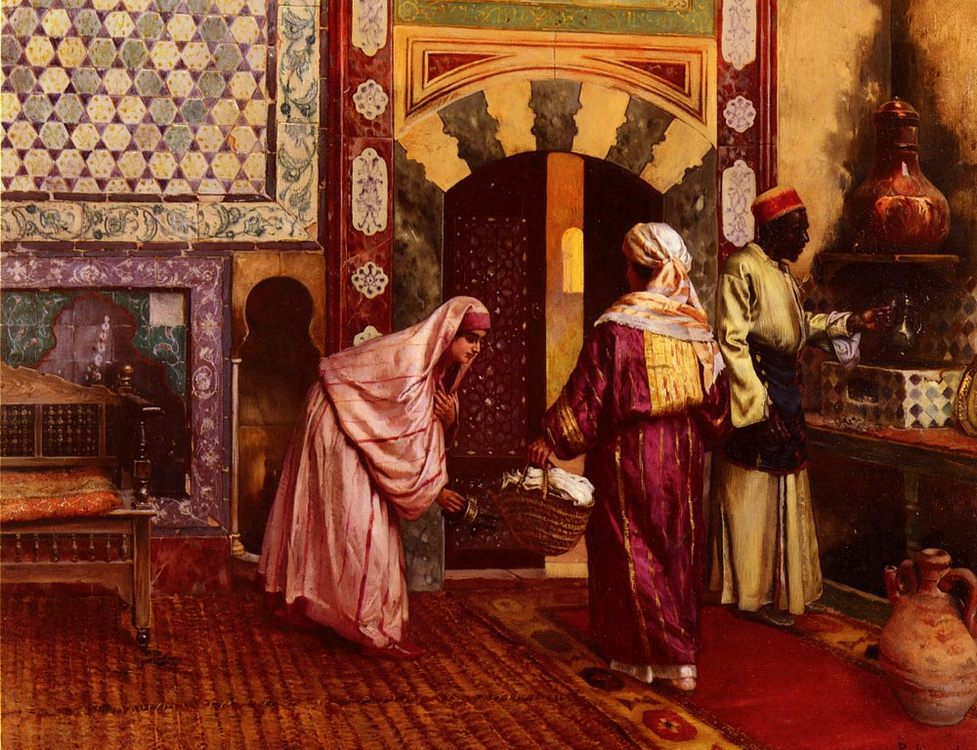 The Hammam :: Rudolf Ernst - Interiors in art and painting фото