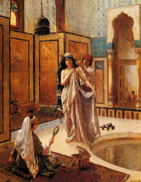 The Harem Bath :: Rudolf Ernst - Interiors in art and painting ôîòî