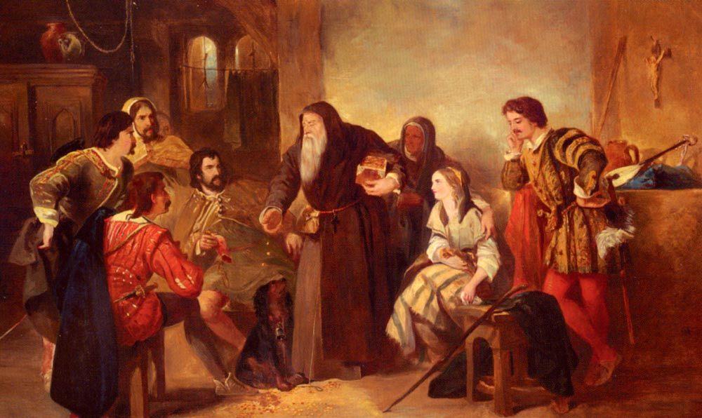 The Beggar Of Bethnal Green :: Sir John Gilbert - Interiors in art and painting ôîòî