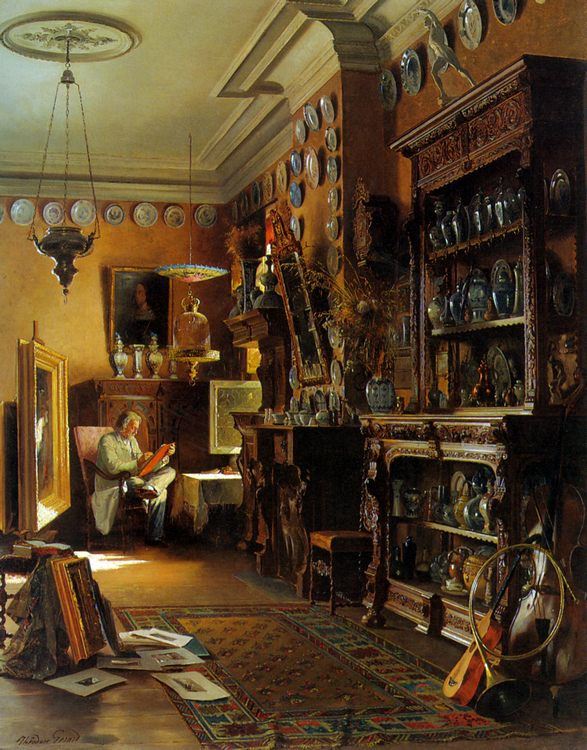 The Collectors Studio :: Theodore Gerard - Interiors in art and painting фото