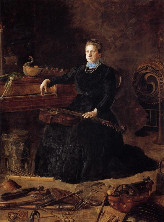 Antiquated Music :: Thomas Eakins - Interiors in art and painting фото