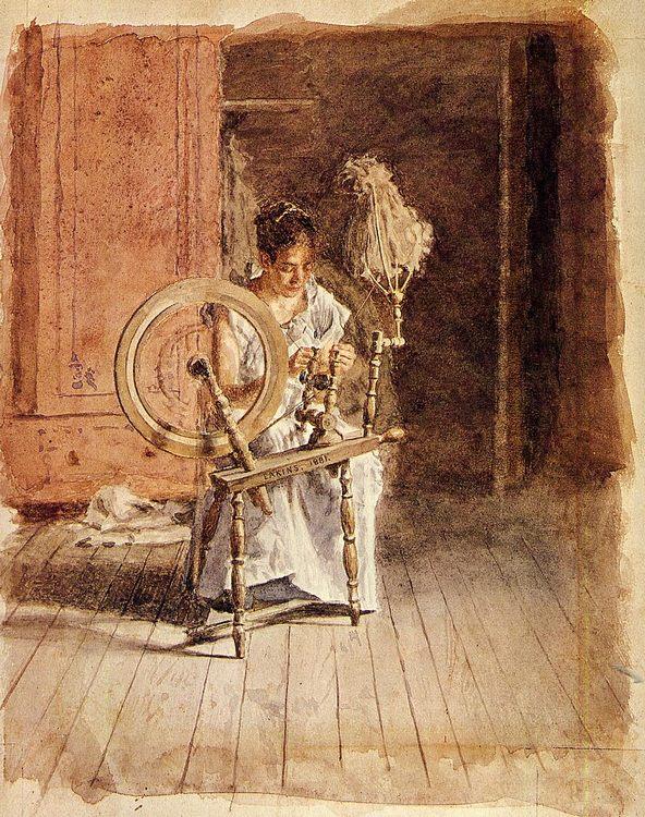 Spinning :: Thomas Eakins  - Interiors in art and painting ôîòî