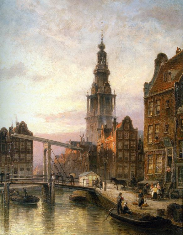 The Zuider Kerk at Dusk, Amsterdam :: Cornelis Christiaan Dommelshuizen - Architecture фото