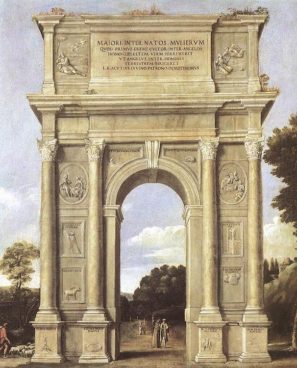 A Triumphal Arch of Allegories :: Domenichino  - Architecture фото