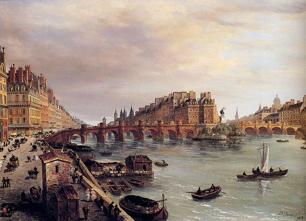 Paris With A View Of The Pont Neuf :: Domenico Ferri - Architecture ôîòî
