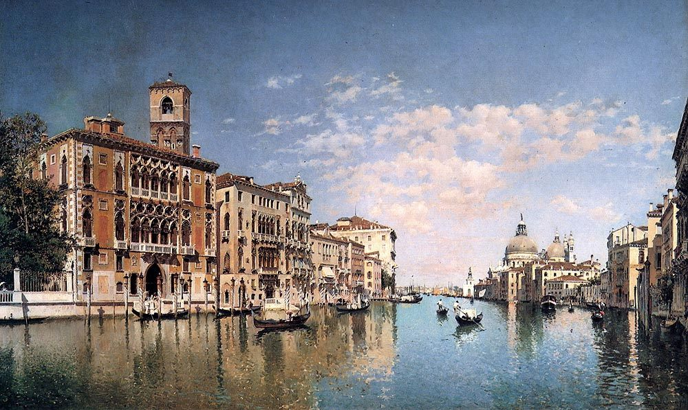 The Grand Canal Looking Towards Santa Maria Della Salute :: Federico Del Campo - Venice фото
