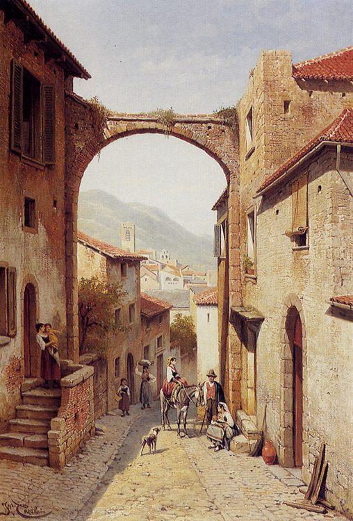 Rue A Narni, Italy :: Jacques Carabain  - Architecture фото