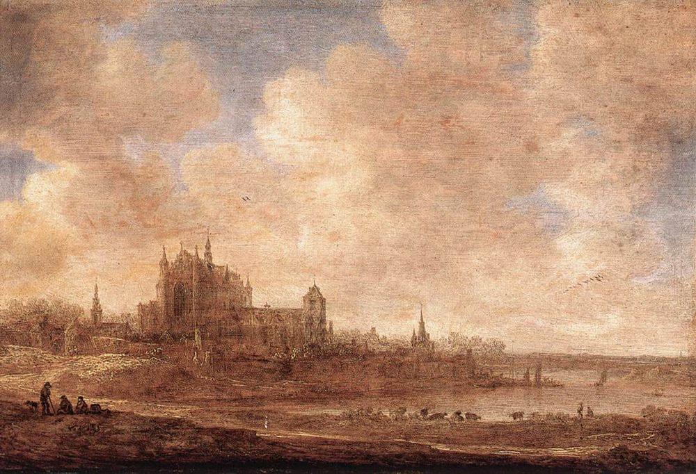 View of Leiden :: Jan van Goyen - Architecture фото