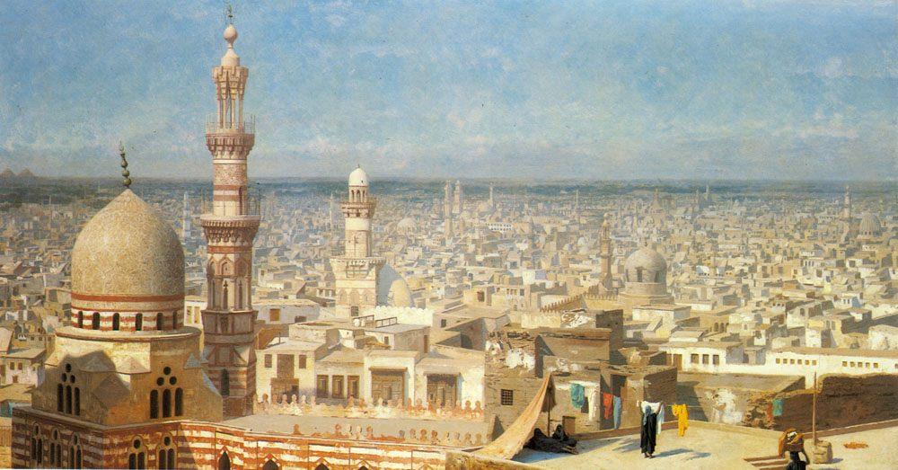 View of Cairo :: Jean-Leon Gerome  - Architecture фото