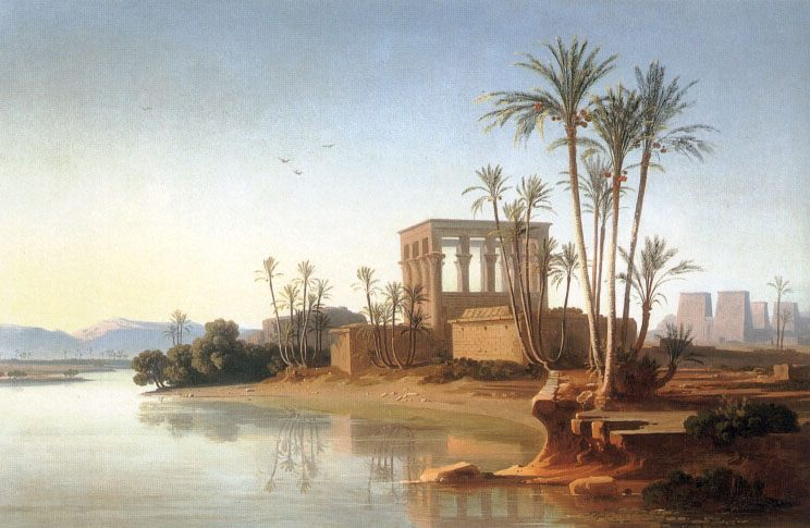 The Ruins at Philae, Egypt :: Johann Jakob Frey  - Ruins фото