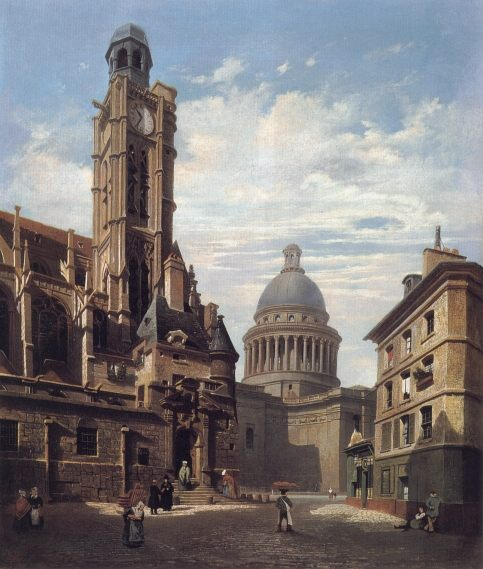 A View of The Pantheon and the Church of :: Jules Dupre  - Architecture фото