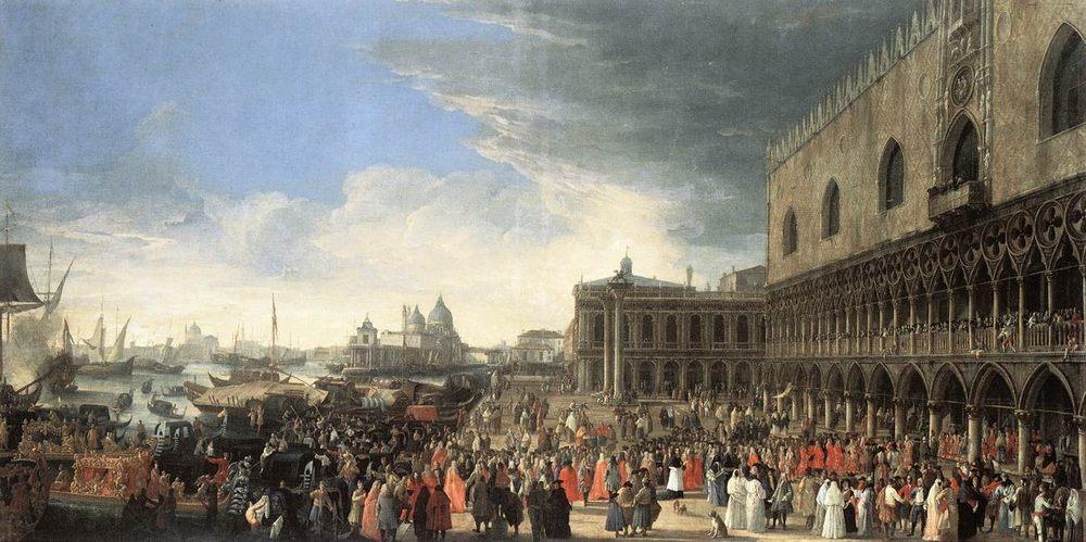 The Reception of Cardinal Cisar d Estres :: Luca Carlevaris - Venice фото
