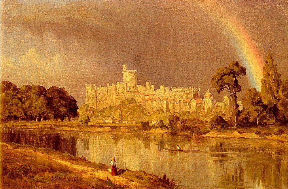 Study Of Windsor Castle :: Sanford Robinson Gifford - Architecture ôîòî
