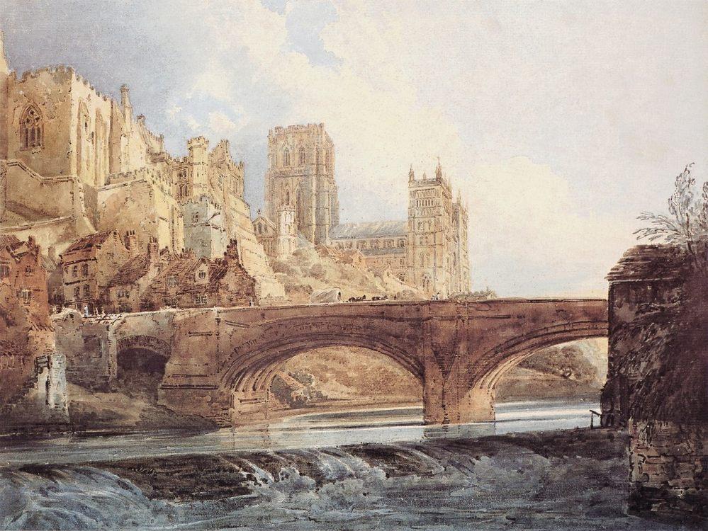 Durham Cathedral and Castle :: Thomas Girtin  - Architecture ôîòî