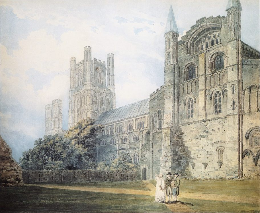 Ely Cathedral from the South-East (after James Moore) :: Thomas Girtin  - Architecture фото