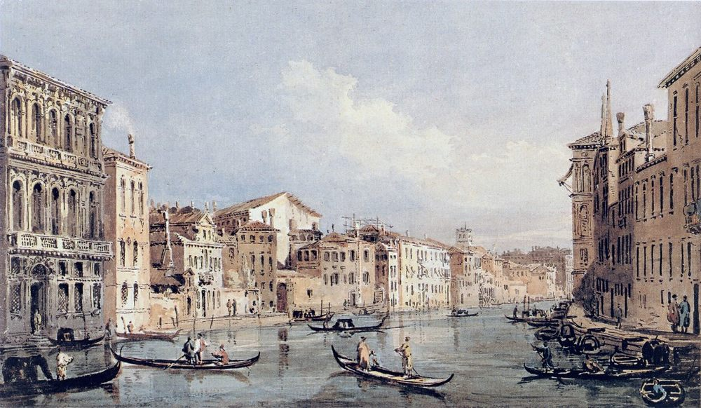 Grand Canal, Venice (after Canaletto) :: Thomas Girtin  - Architecture фото