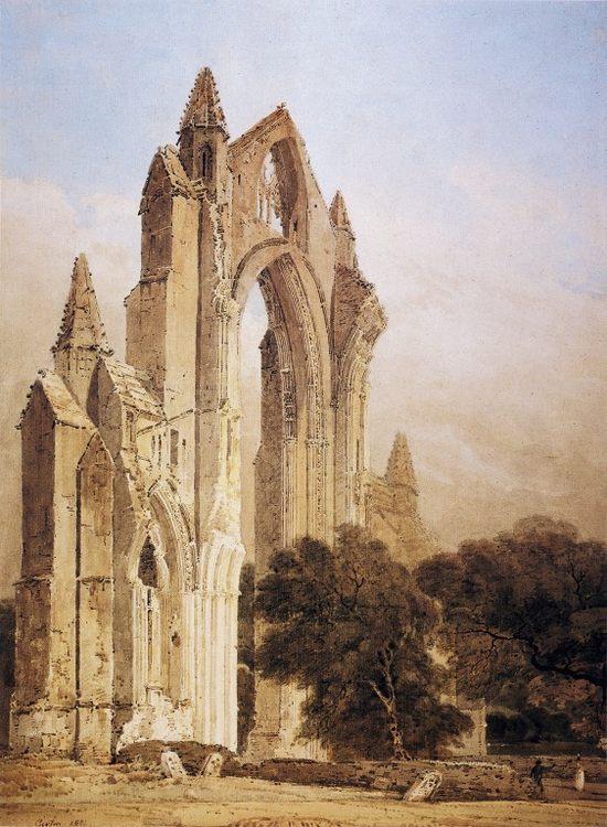 Guisborough Priory, Yorkshire :: Thomas Girtin - Architecture ôîòî