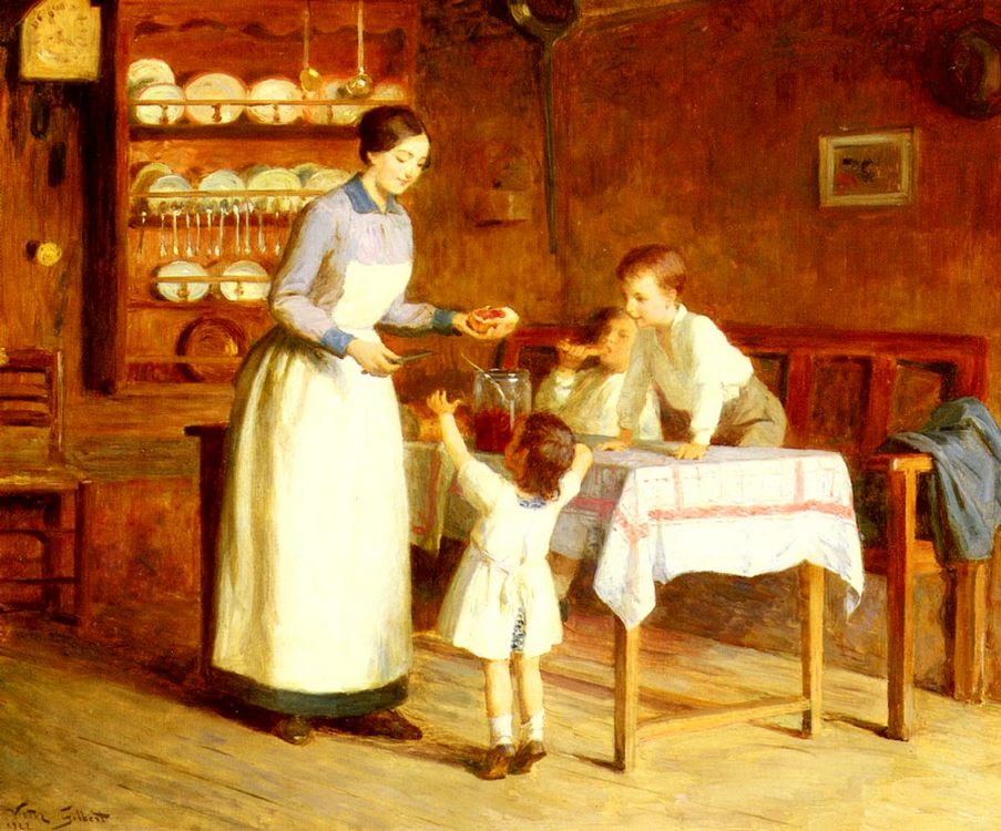 The Children s Taste :: Victor Gabriel Gilbert - Interiors in art and painting фото