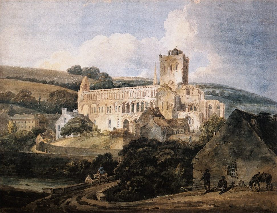 Jedburgh Abbey from the South-East :: Thomas Girtin - Architecture фото